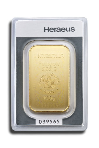 Picture of 100 g Minted Gold bar